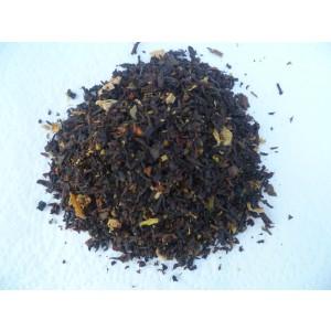"""Thé noir  """" CASCADE """" naturel* coco rapée, framboise,rhubarbe..."""